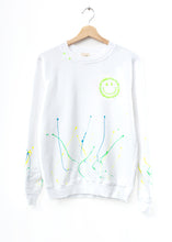 Neon Splash Smiley Face Sweatshirt(5 Colors)