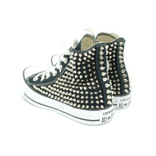 CUSTOM STUDDED CONVERSE CHUCK TAYLOR HIGH TOP - SPIKE BLACK