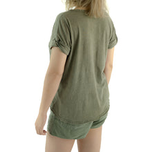 ALL STAR EMBROIDERY TEE SHIRT - VINTAGE OLIVE