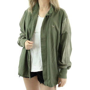 US ARMY CHEMICAL PROTECTIVE  JACKET -OLIVE GREEN 107
