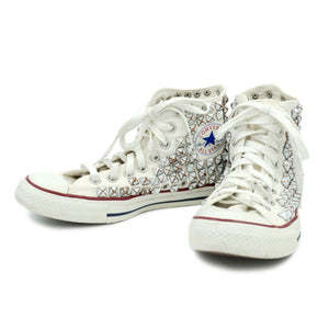 CUSTOM STUDDED CONVERSE CHUCK TAYLOR HIGH TOP - VINTAGE WHITE