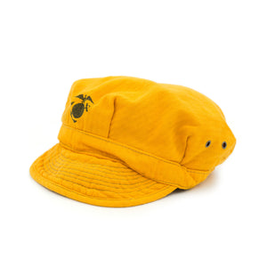 VINTAGE USMC MARINES HAT INSPIRED CAP - YELLOW