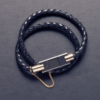 BOLT the black leather bracelet