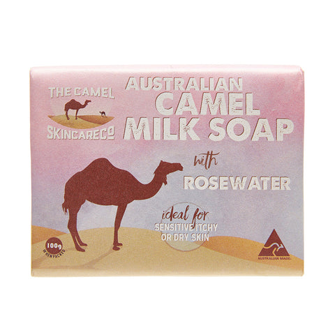Australian Camel Milk 100g Soap with Rosewater