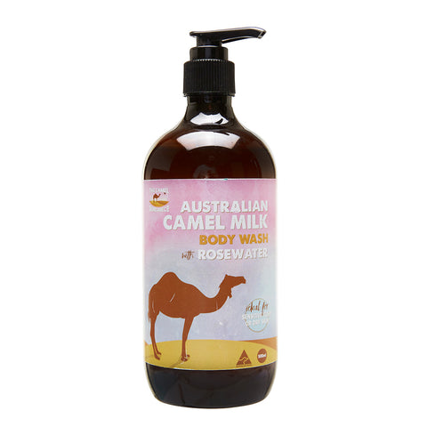 Australian Camel Milk and Rosewater 500ml Hand and Body Wash