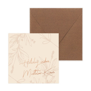 Holiday wishes, Mistletoe Kisses Christmas Card