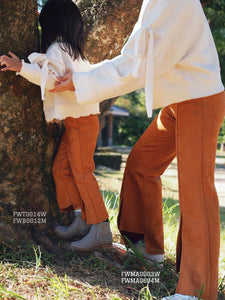 MOM-DAUGHTER SUEDE PANT