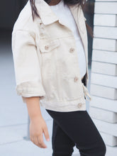 DENIM JACKET IN IVORY