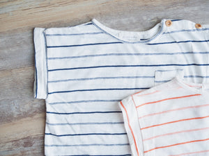SOFT STRIPE POCKET TEE