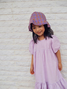 CHECKERED COTTON HAT