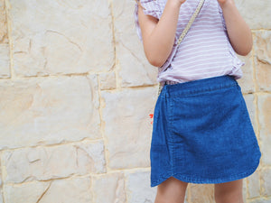 DENIM SKIRT PANTS