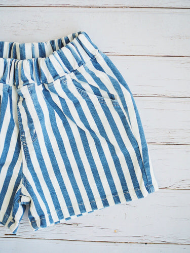 DENIM STRIPES SHORTS