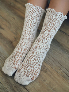 GIRLY BRODERIE SOCKS