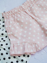 POLKA DOT SHORTS WITH RUFFLES HEM