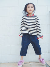 LONG-SLEEVES STRIPE TEE WITH FLUTED CUFF