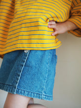DENIM WRAP SKIRT PANTS