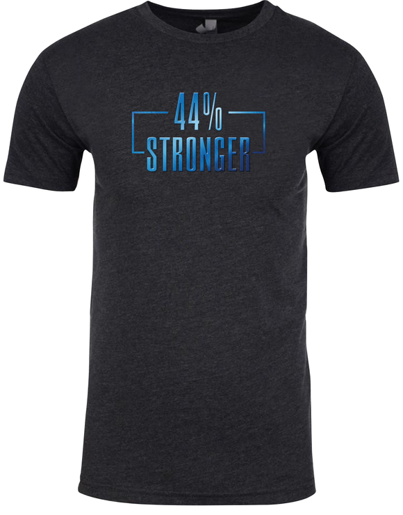 44% Stronger T-shirt (charcoal or blue)