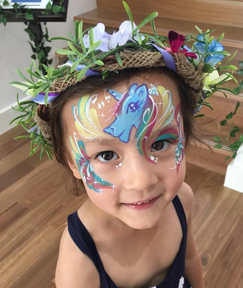 Design painted by Adelaide Face Painter Juliette Hocking