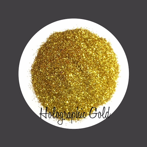 TAG Cosmetic Grade Puff Glitter Holographic Gold