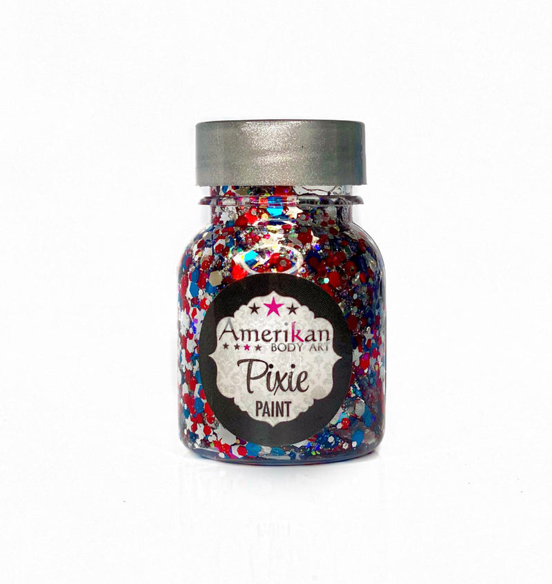 Amerikan Body Art Pixie Paint Glitter Gel Star Spangled