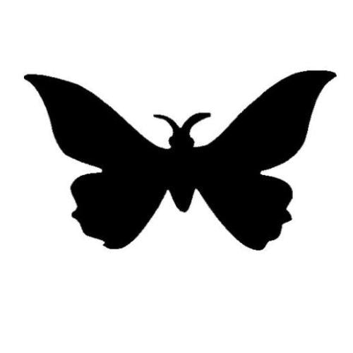 TAG Butterfly Two Glitter Tattoo Stencil