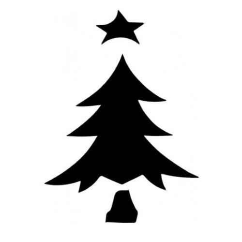 TAG Christmas Tree 1 Glitter Tattoo Stencil