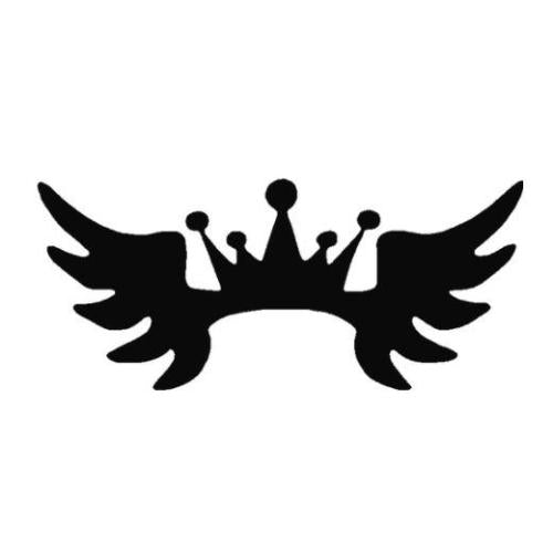 TAG Crown Wings Glitter Tattoo Stencil