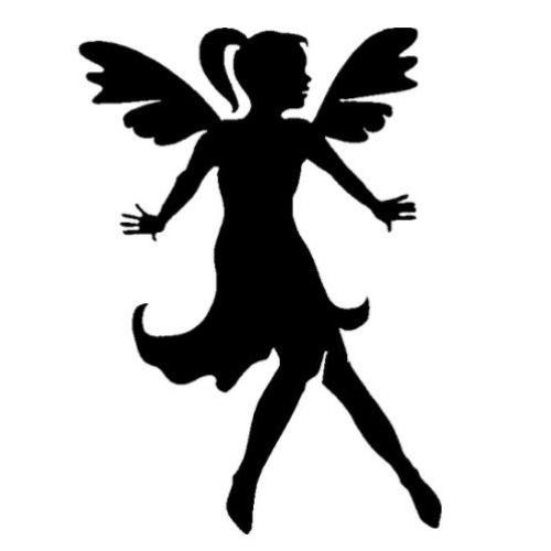 TAG Fairy Flying Glitter Tattoo Stencil