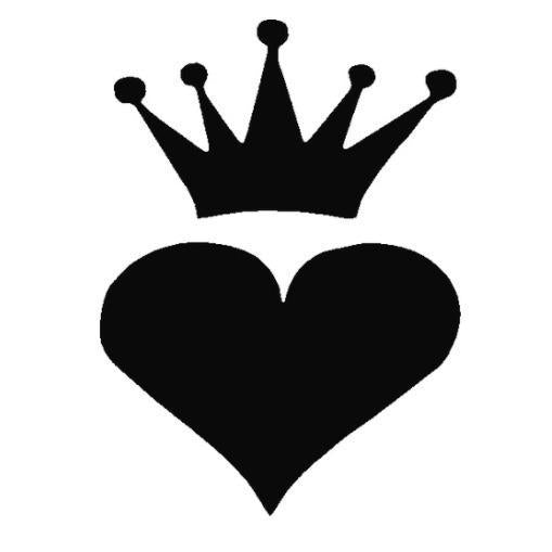 TAG Heart Crown Glitter Tattoo Stencil