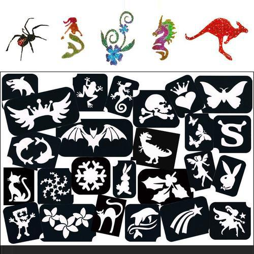 TAG Self Adhesive Tattoo Stencil Packs - Christmas