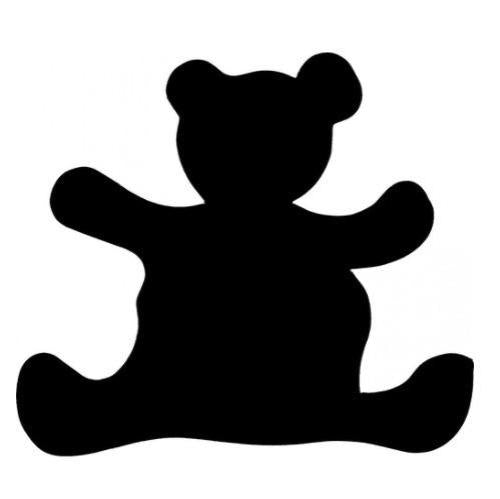 TAG Teddy Bear Glitter Tattoo Stencil