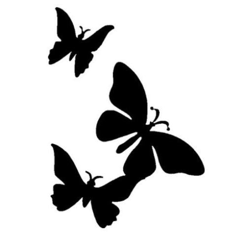 TAG Triple Butterfly Glitter Tattoo Stencil