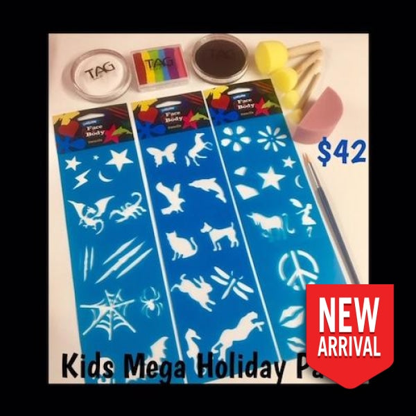 Kids Holiday Face Paint Mega Pack Painting Kits