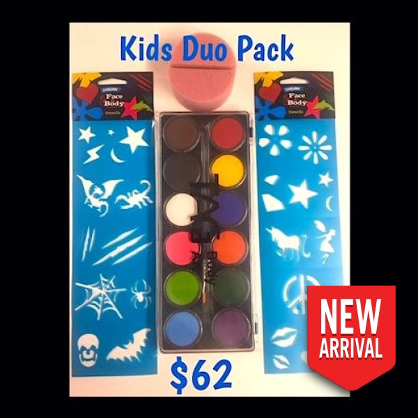 Kids Holiday Face Paint Super Pack - Duo Painting Kits