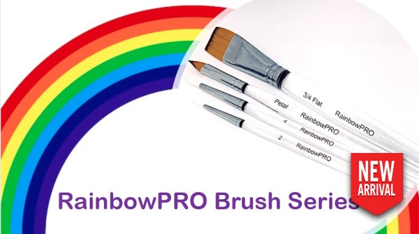 Rainbowpro Series Set Of Four Brushes