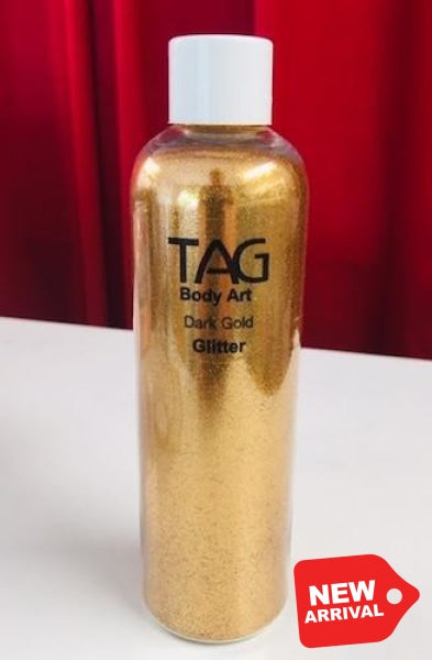 Tag Cosmetic Grade Puff Glitter - Dark Gold 15Ml