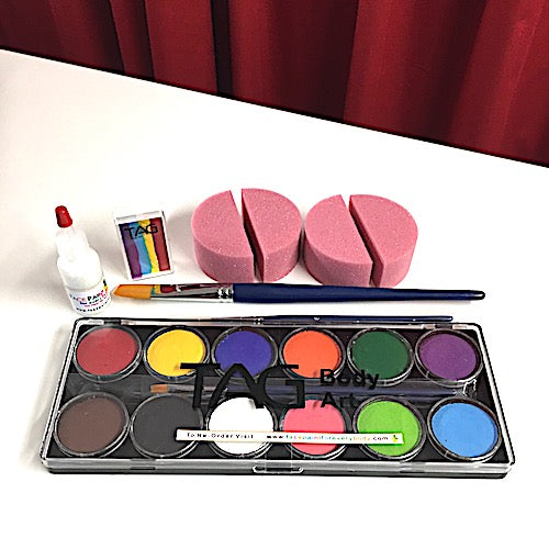 Beginners Face Painting Kit with One Stroke