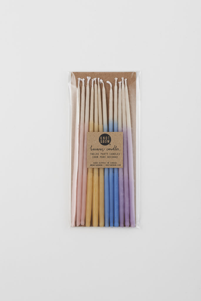 ASSORTED OMBRÉ TALL BEESWAX CANDLES