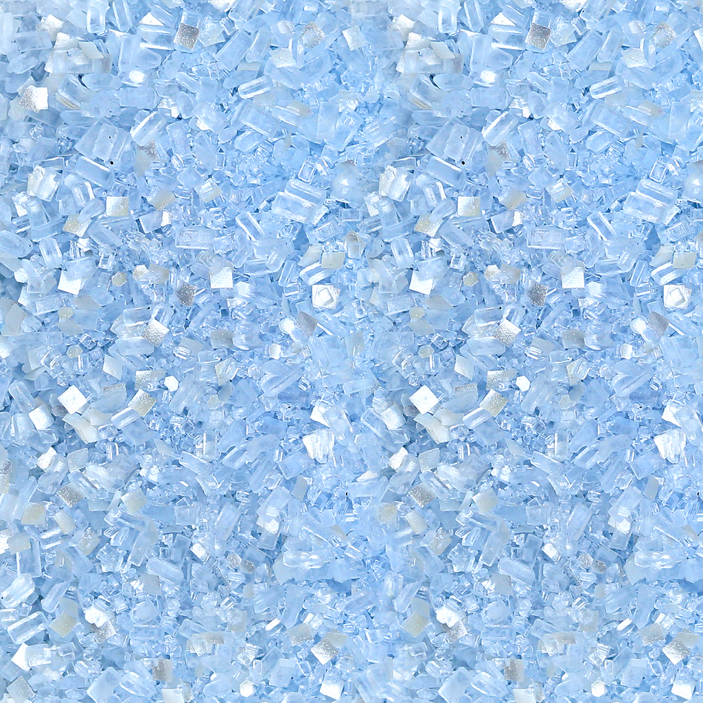 Light Blue Glittery Sugar