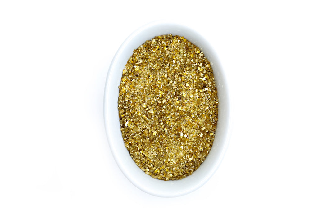 Metallic Gold Glittery Sugar