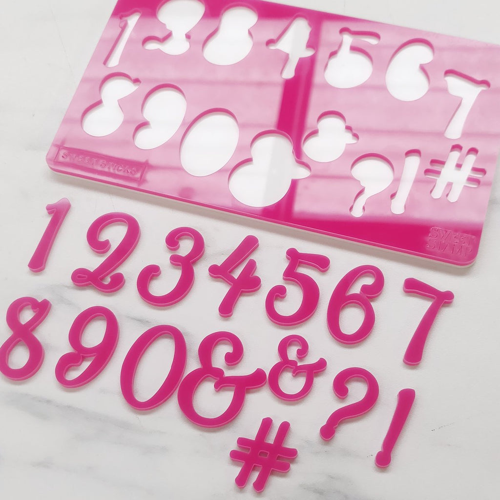 Sweet Sticks Edition, Numbers & Symbols