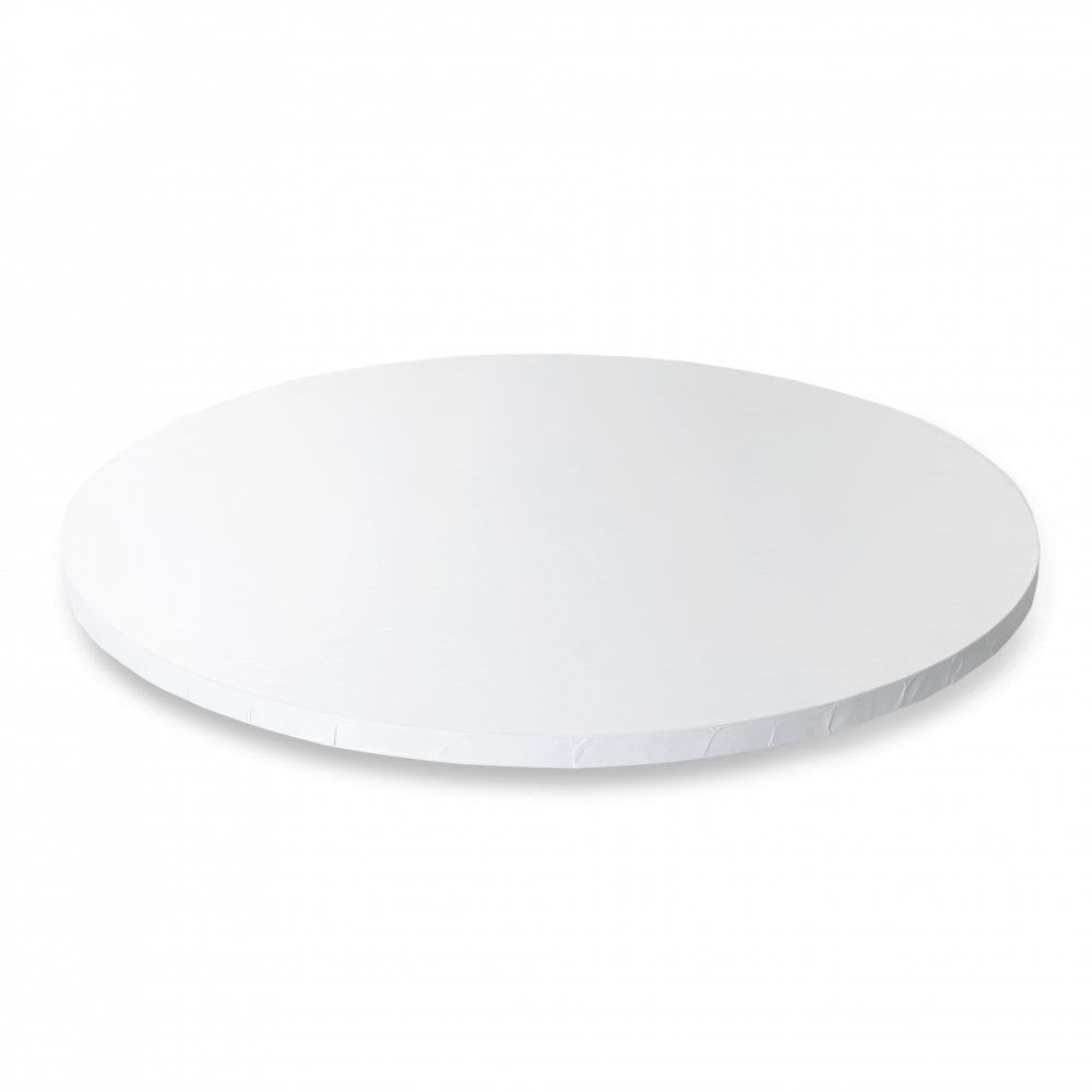 GLOSSY WHITE Round Premium Masonite Cake Board Drum