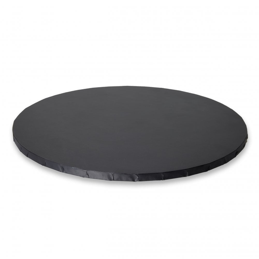 MATT BLACK Round Premium Masonite Cake Board Drum