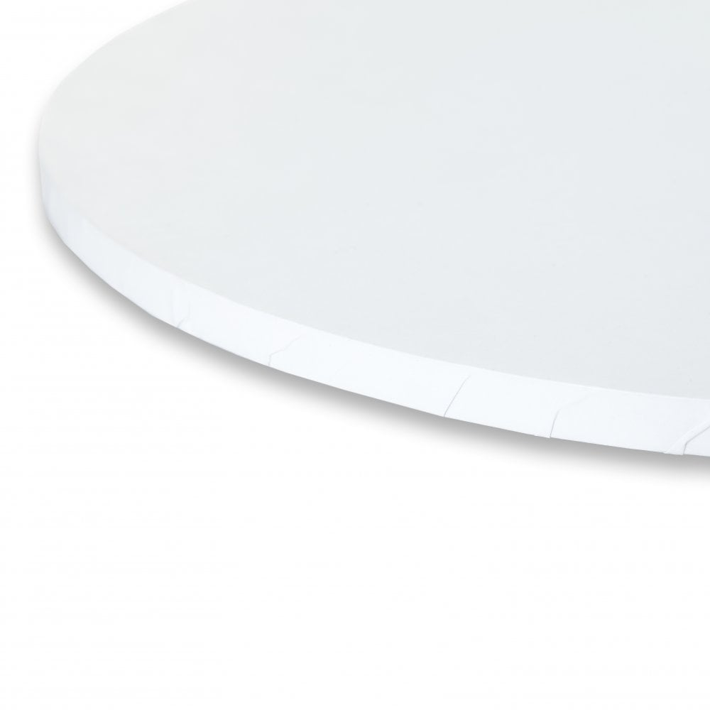MATT WHITE Round Premium Masonite Cake Board Drum