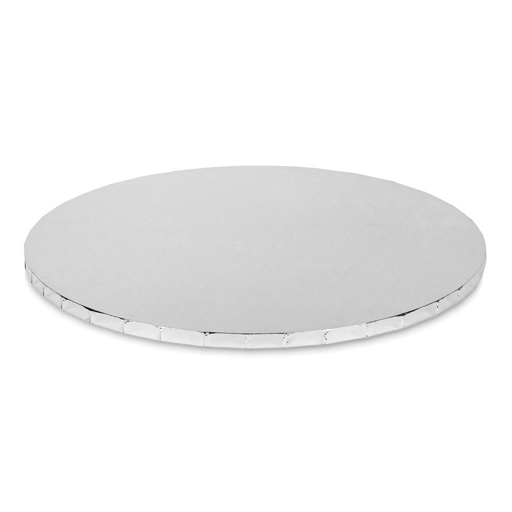 SILVER Mirror Round Premium Masonite Cake Board Drum 10mm