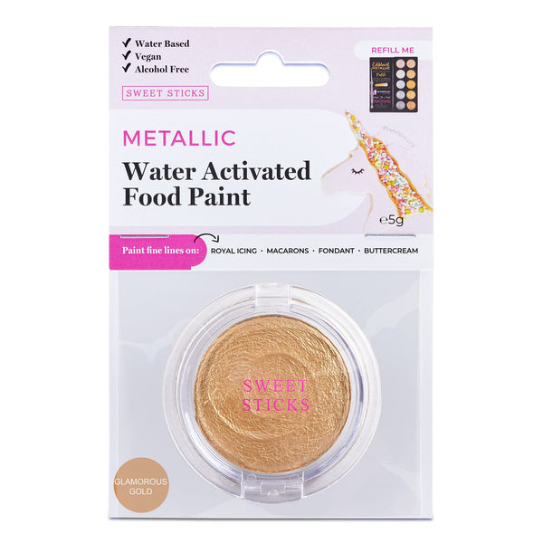 WATER ACTIVATED FOOD PAINT - GLAMOROUS GOLD