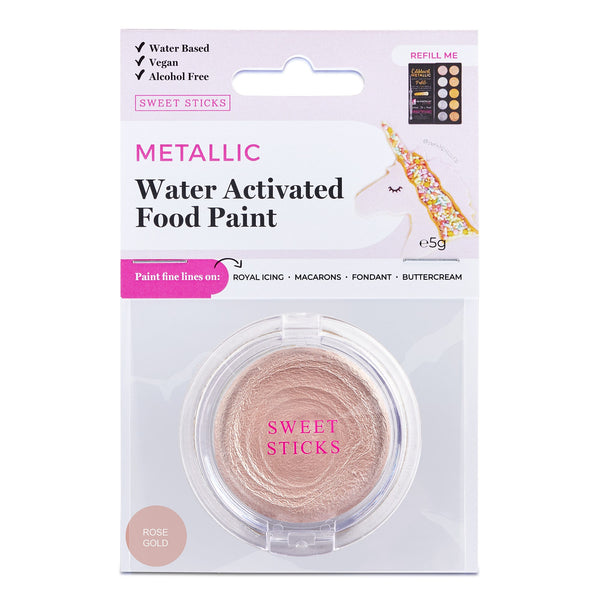 Water Activated Food Paint - Rose Gold