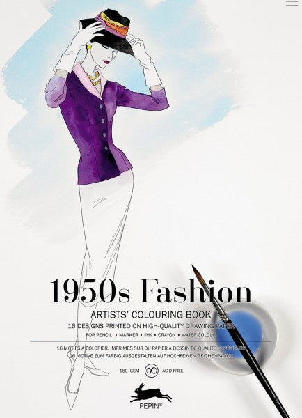Artists' Colouring Books - 1950's Fashion