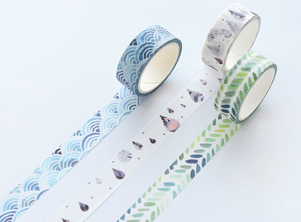 Kawaii Planner Supplies Washi Masking Tape - Geometry Diary