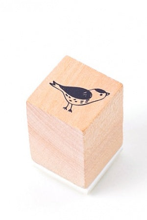 Lovely Wooden Rubber Stamp - Little Forest - bird